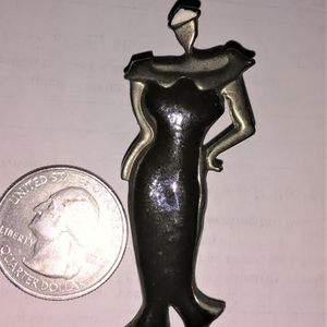 Jewelry - Vintage Art Deco Chic Lady 1940s Pin